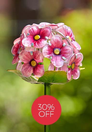 Solar Powered Rose Bloom Stake Light - 2 Pack