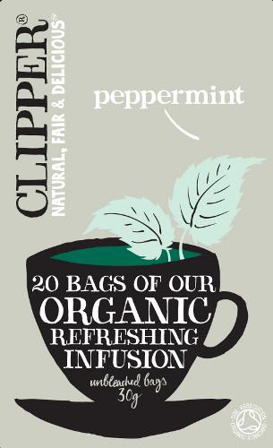 Clipper Organic Peppermint Tea.