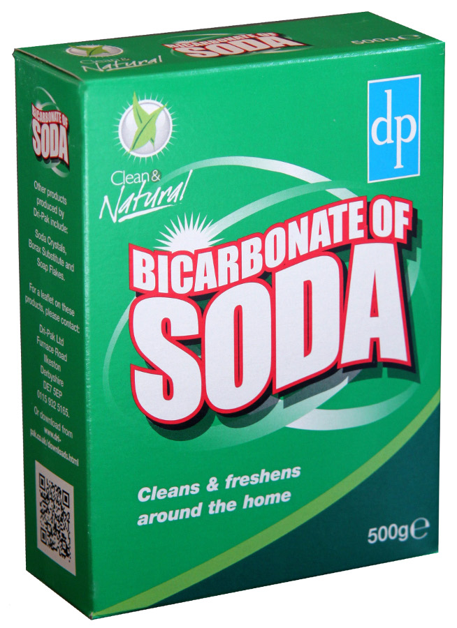 Clean Natural Bicarbonate Of Soda 500g Dri Pak