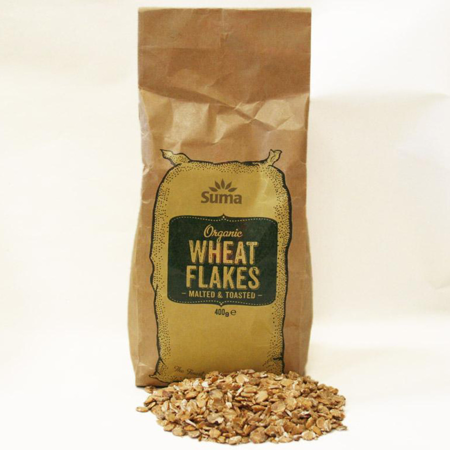 Suma Prepacks - Organic Toasted Malted Wheat Flakes 400g