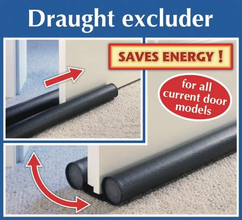 Wenko Insulating Draught Excluder - Black