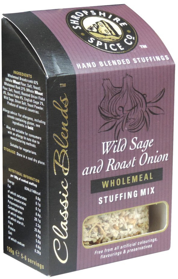Shropshire Spice Co. Wild Sage and Roast Onion Wholemeal Stuffing Mix - 150g