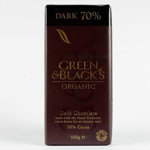 Green & Blacks Organic 70% Dark Chocolate 100g
