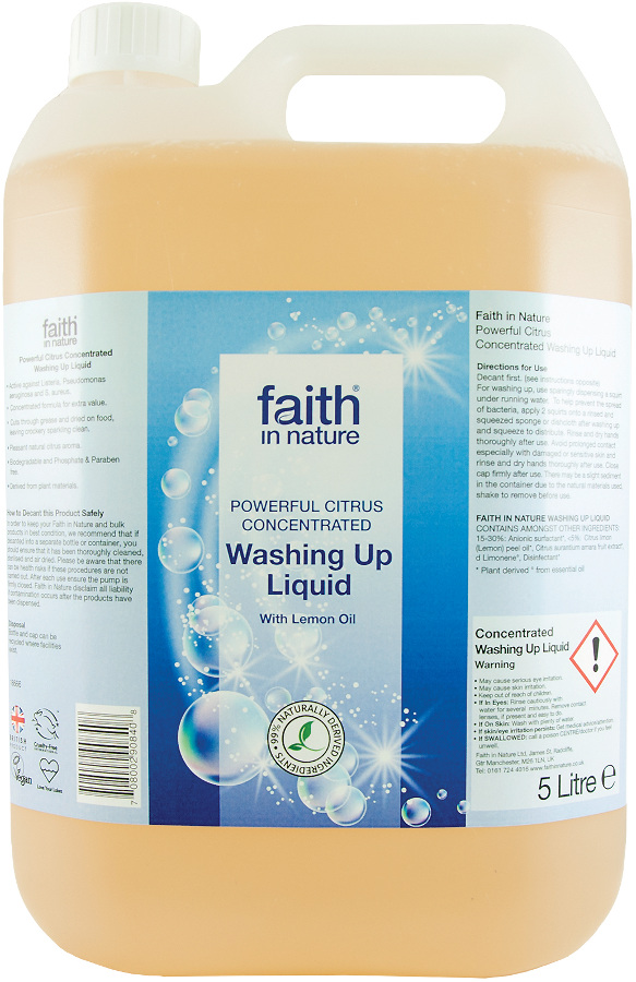 Faith in Nature Concentrated Washing Up Liquid - 5L