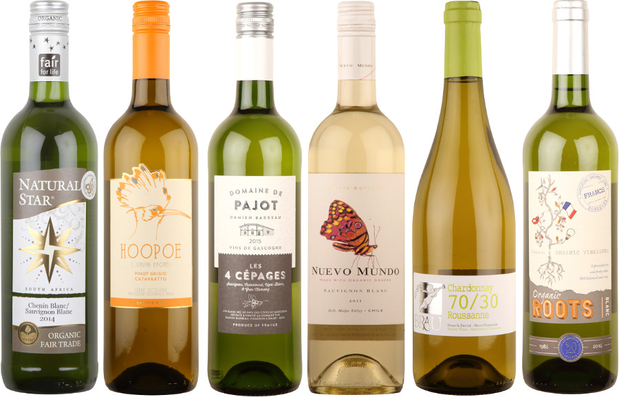 Box of 6 Crisp White Organic Wines