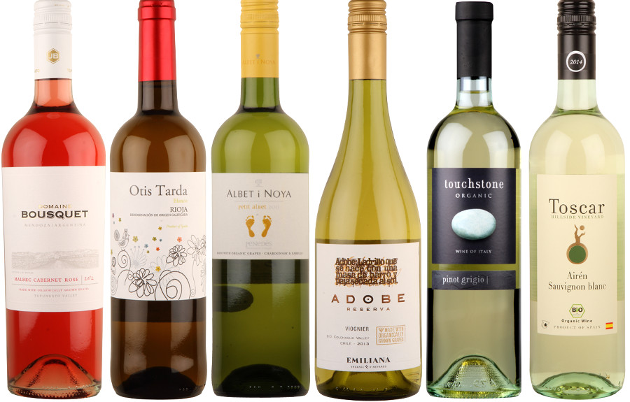 Box of 6 Fruity Organic White Wines