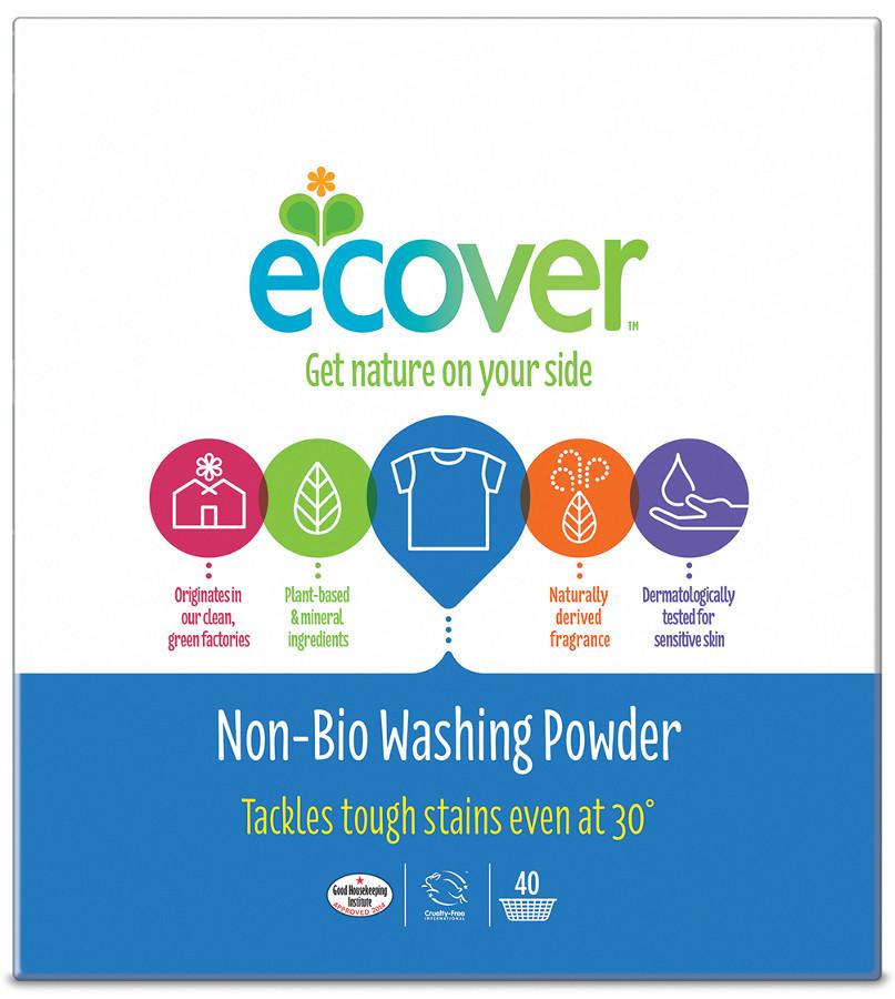 Organic Food Ecover Non-Bio Washing Powder - 3kg