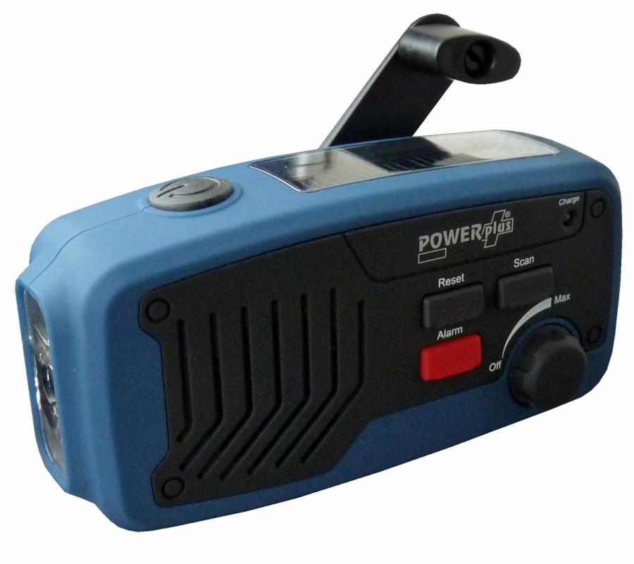PowerPlus Panther Wind up & Solar Radio Torch & Power Bank