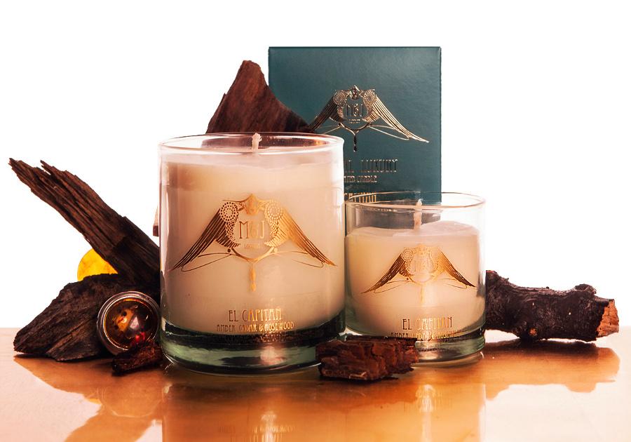 Image of M&J London El Capitan Amber Soy Candle - Large