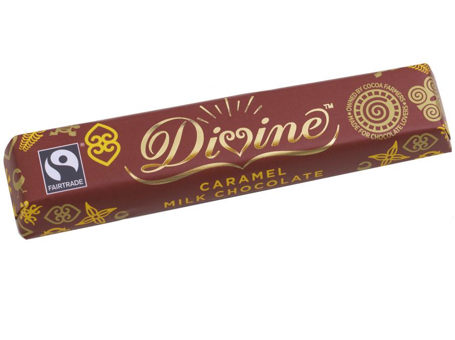 Divine Caramel Milk Chocolate 40g Divine Chocolate