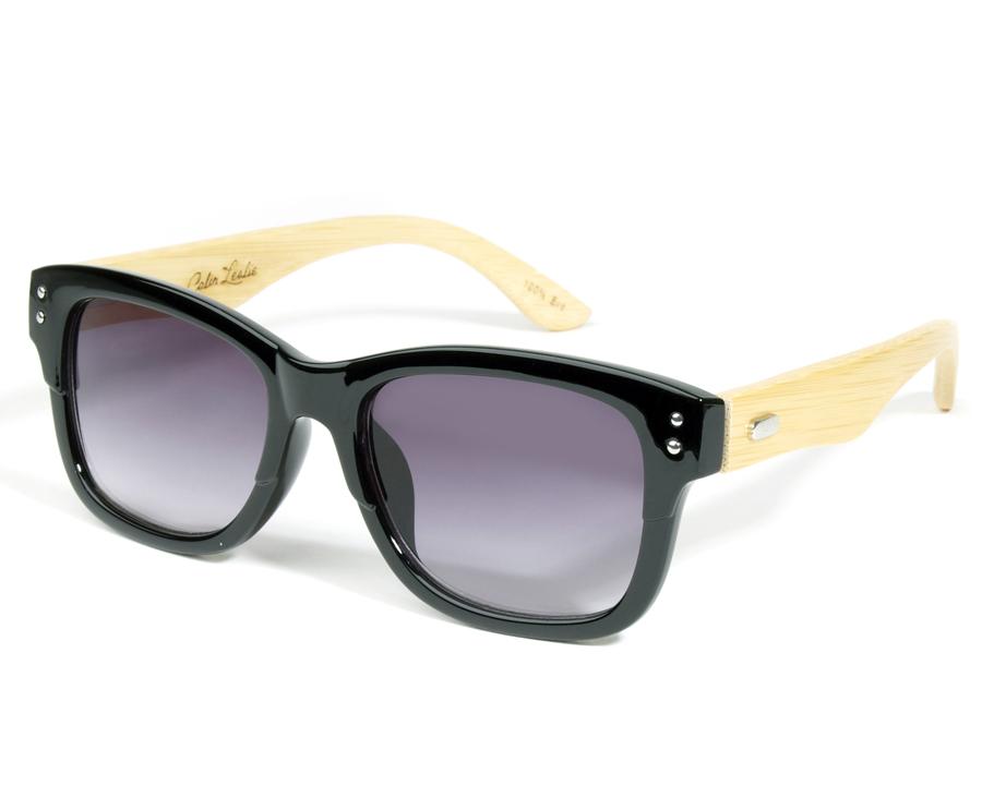 Retro Black Eco-Friendly Wooden Sunglasses