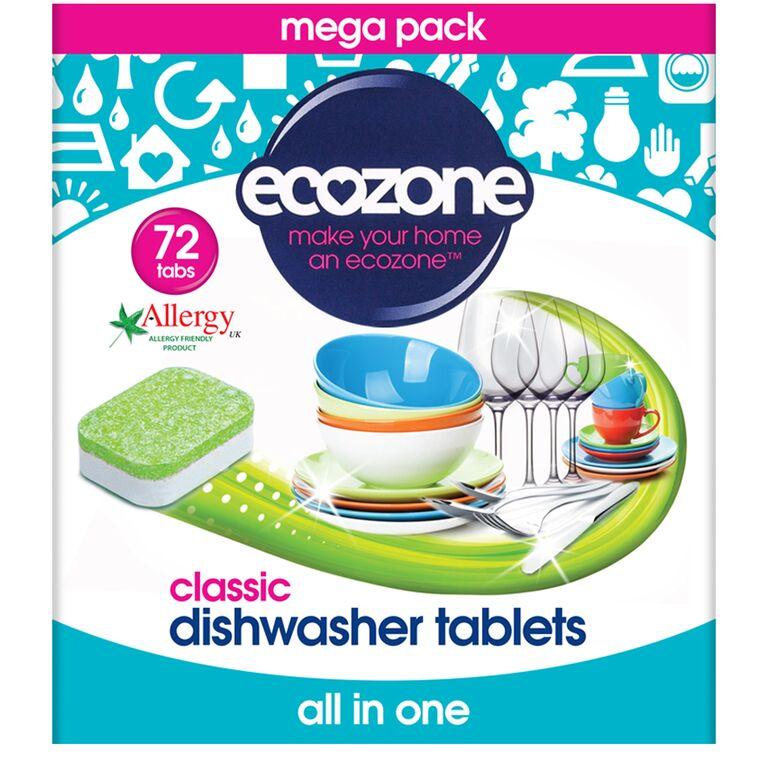 Ecozone Dishwasher Tablets Classic - Pack of 72