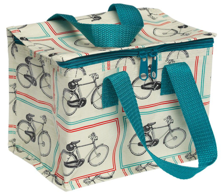 Image of Bicycle Rider's Design Recycled Lunch Bag
