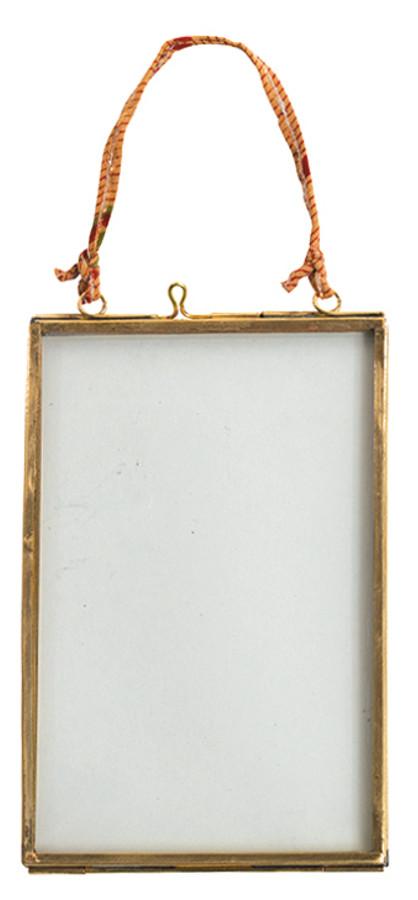 Image of Kiko Glass Brass Frame - 4x6 - Portrait