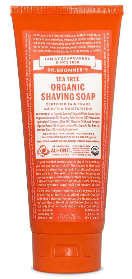Dr Bronner Organic Shaving Gel - Tea Tree - 208ml