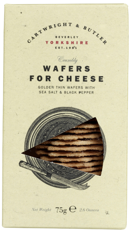 Cartwright & Butler Wafers for Cheese with SS & Bk Pepper - 75g