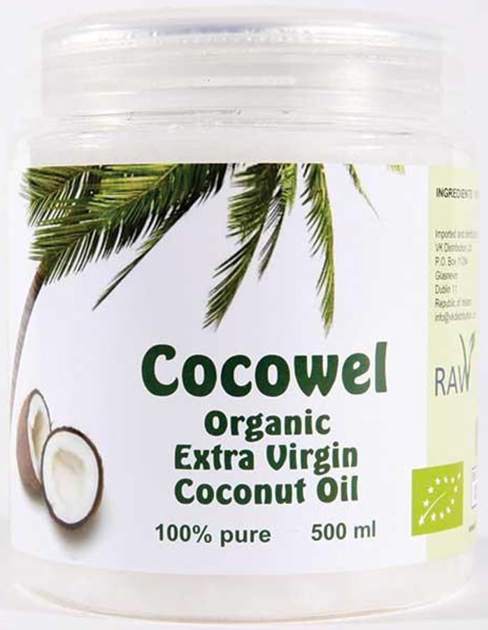 Cocowel Organic Extra Virgin Coconut Oil - 500ml