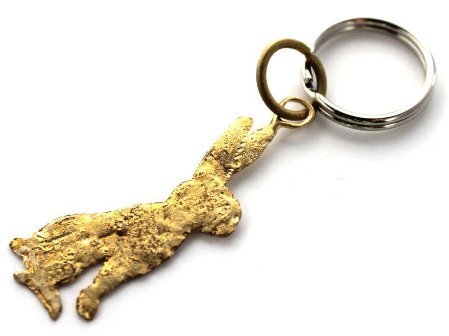 La Jewellery Lobee Brass Hare Keyring
