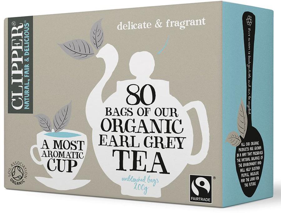 Clipper Organic Earl Grey Tea - 80 Bags