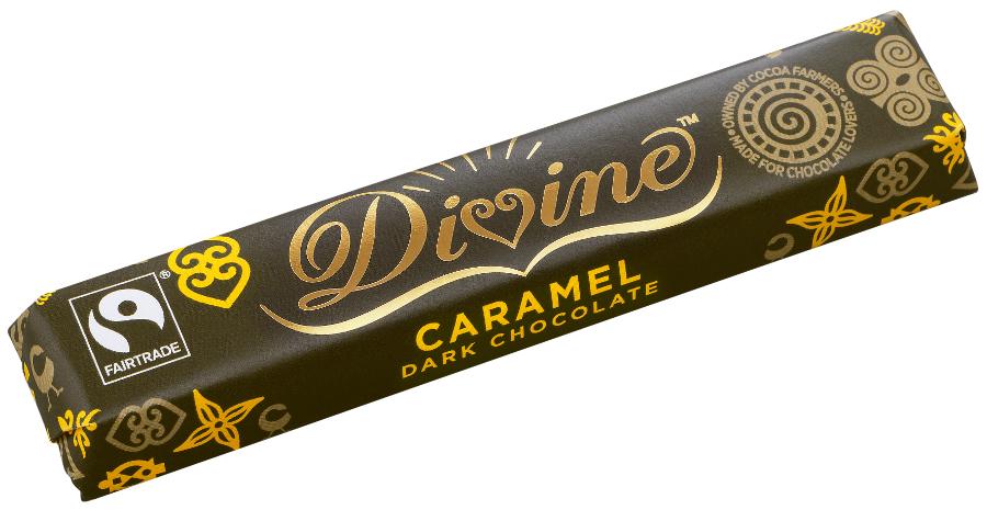 Divine Dark Chocolate Caramel Bar - 40g.