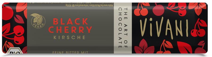 Vivani Organic Black Cherry Chocolate - 35g