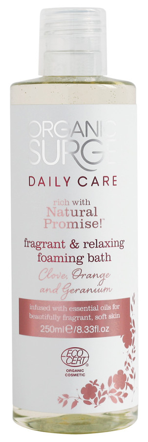 Organic Surge Bath Foam - Clove  Orange & Geranium - 250ml