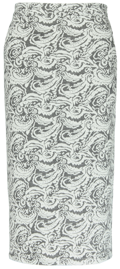 Nancy Dee Joni Floral Motif Pencil Skirt