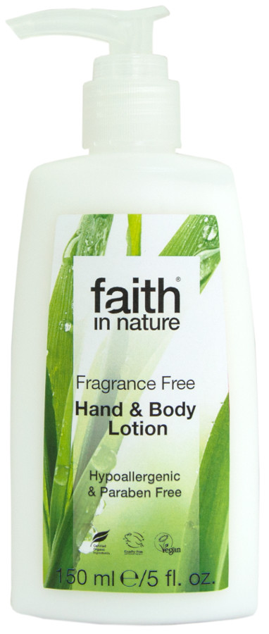 Faith In Nature Fragrance Free Hand & Body Lotion - 150ml