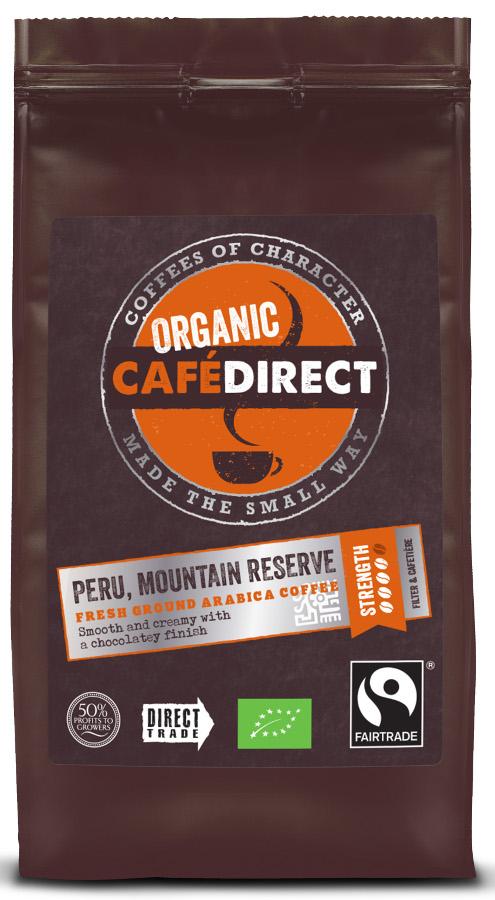 Cafédirect Fair Trade Organics Roast & Ground - Peru - 227g