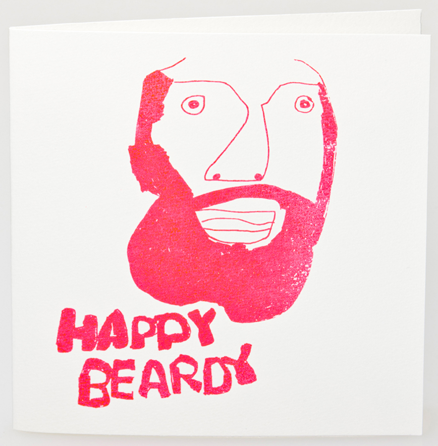 Image of Arthouse Meath Charity Happy Beardy Birthday Card