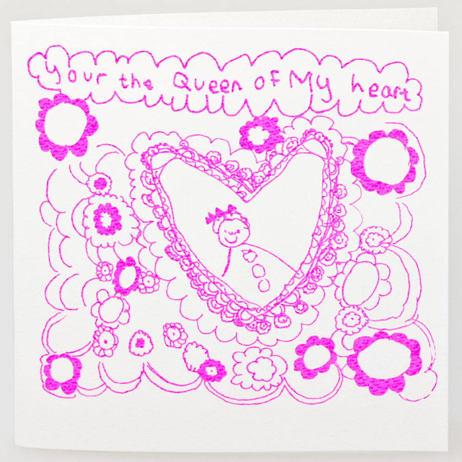 Image of Arthouse Meath Charity Queen of My Heart Card