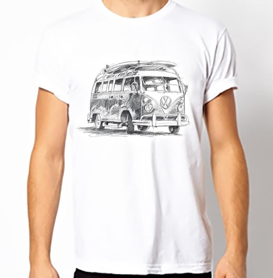 Fair T Mens Fairtrade Vw Campervan T Shirt Fair T