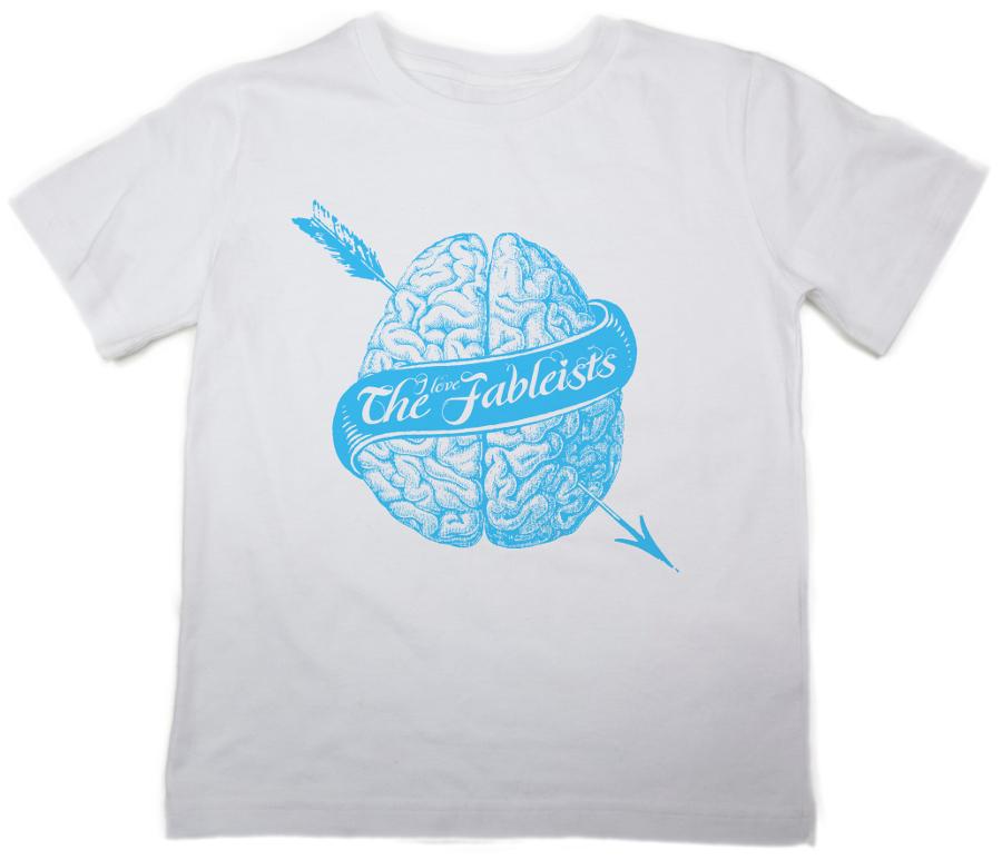 The Fableists 'Brain' Organic Unisex T-Shirt - White