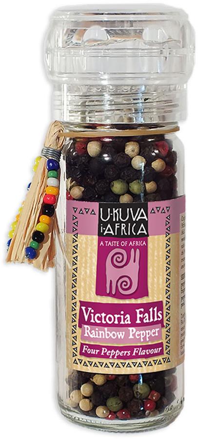 U-KUVA iAFRICA Victoria Falls Rainbow Pepper Grinder - 50g