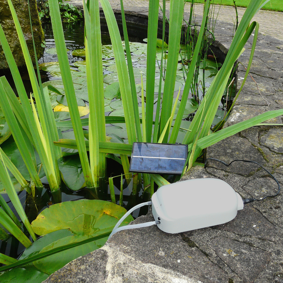 Solar pond oxygenator natural collection select for Pond oxygenator