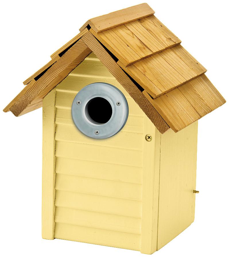 Image of Beach Hut Nest Box - Yellow