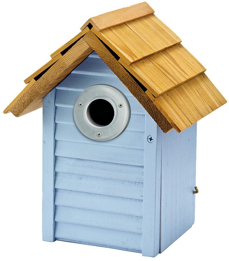 Image of Beach Hut Nest Box - Blue