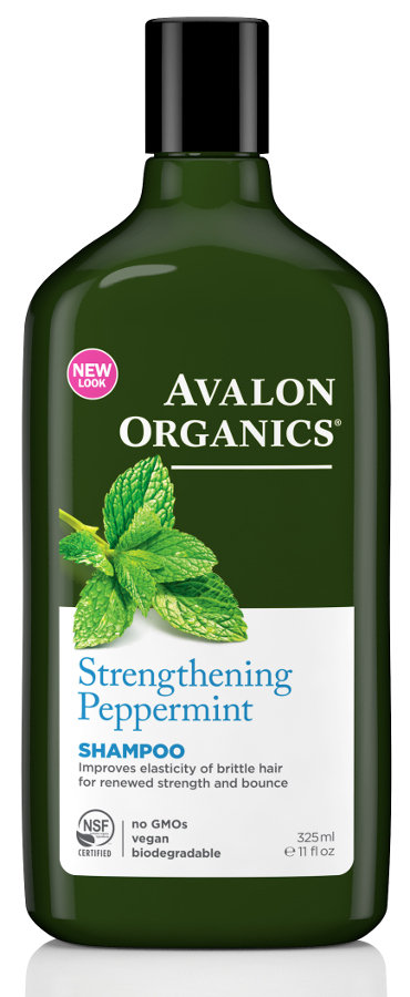 Avalon Organics Strengthening Shampoo - Peppermint - 325ml at Natural Collection