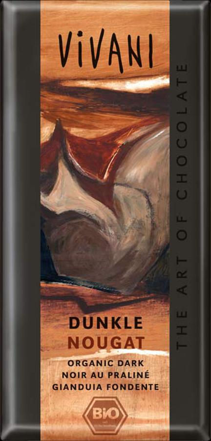 Vivani Organic Dark Chocolate & Nougat - 100g