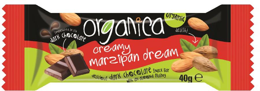 Organica Organic Marzipan Dark Chocolate Bar - 40g