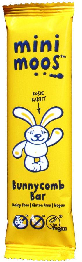 Moo Free Dairy Free Bunnycomb Chocolate Bar 25g