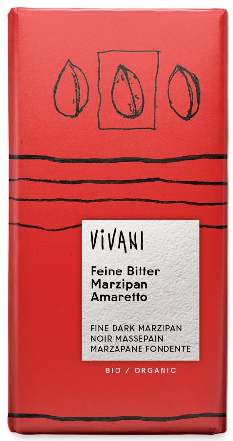 Vivani Organic Dark Chocolate Marzipan & Amaretto - 100g