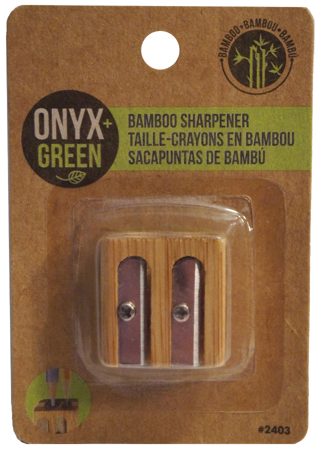 Image of Double Bamboo Pencil Sharpener