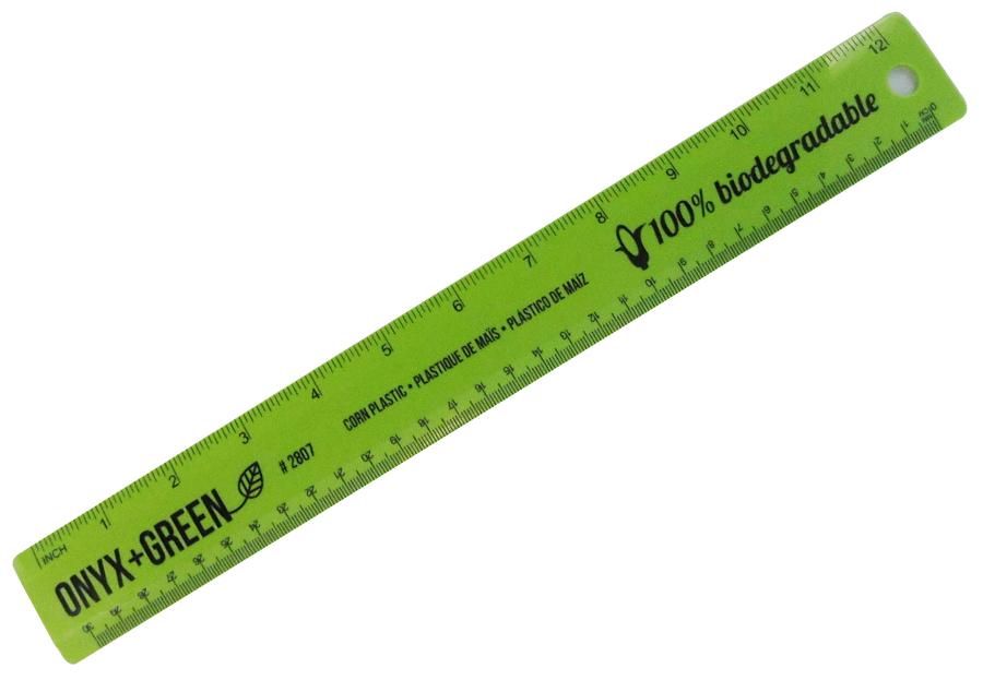 "Image of Corn Plastic Biodegradable Ruler - 12/30cm"""