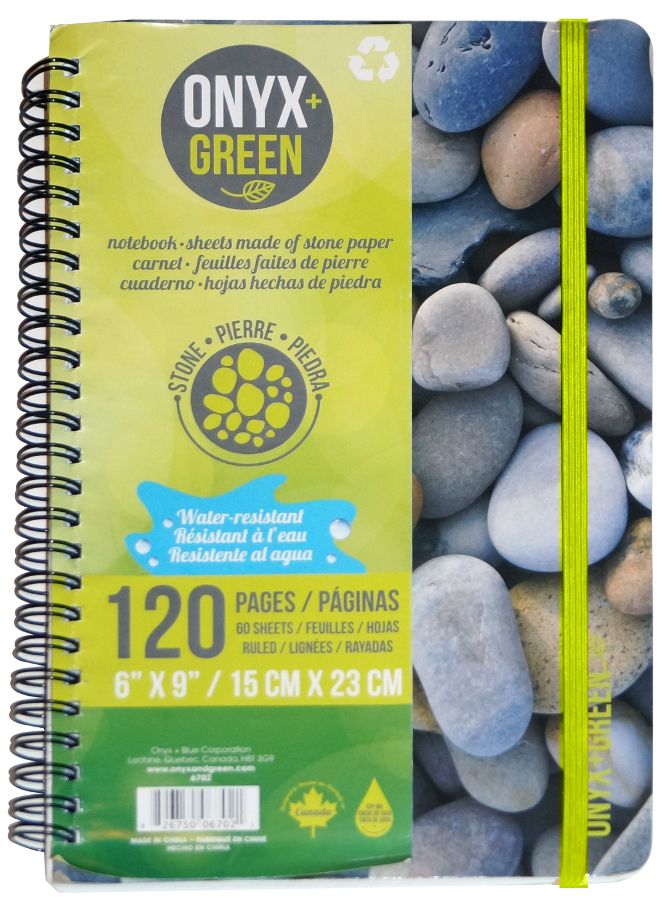 "Image of A5 Stone Paper Notebook - 6"" x 9"" - 60 Ruled Sheets"