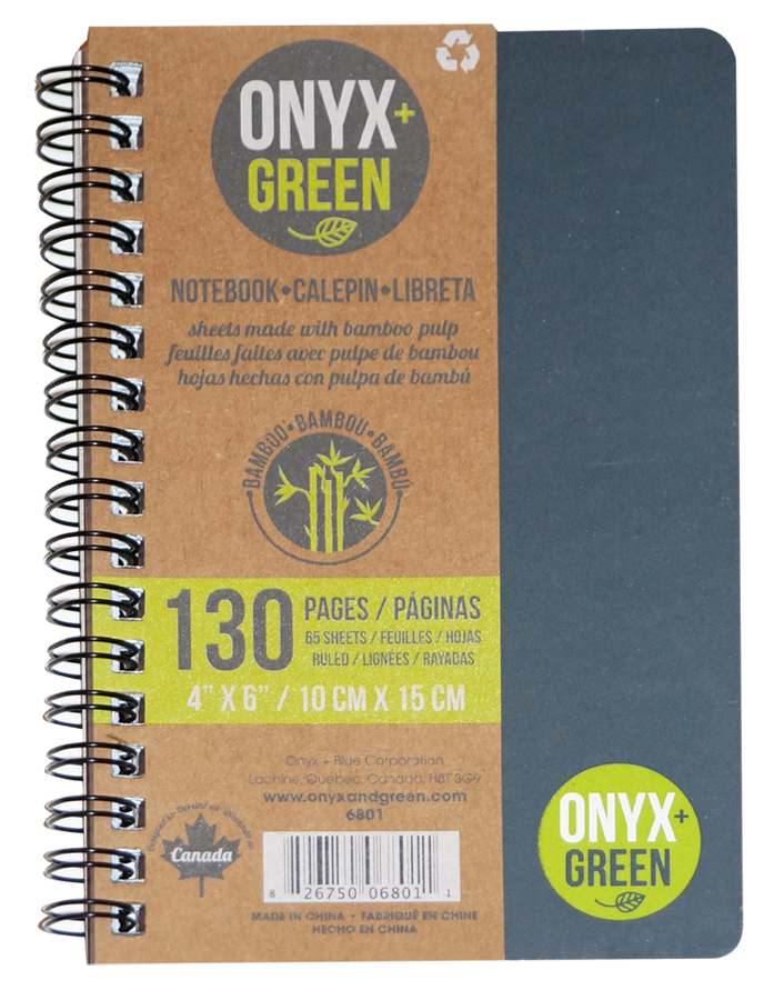Image of A6 Bamboo Paper Notebook - 65 Ruled Sheets - Assorted Colours