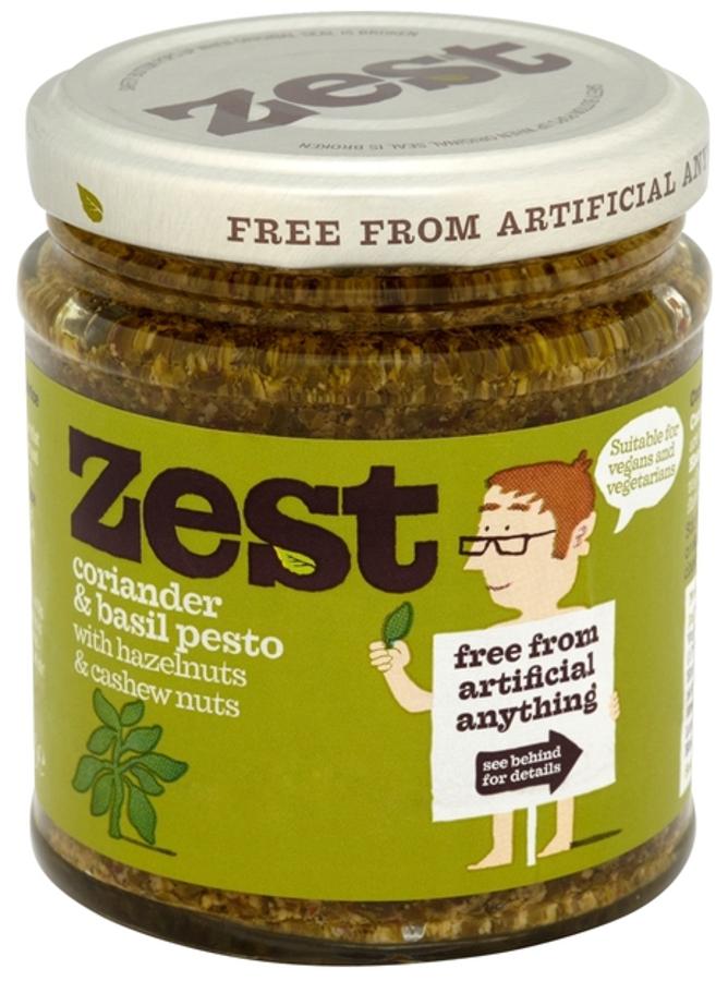 Zest Vegan Coriander & Basil Pesto - 165g
