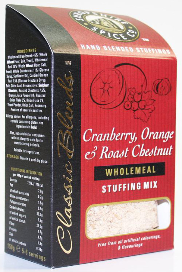 Shropshire Spice Co. Cranberry Orange & Chestnut Stuffing Mix - 150g