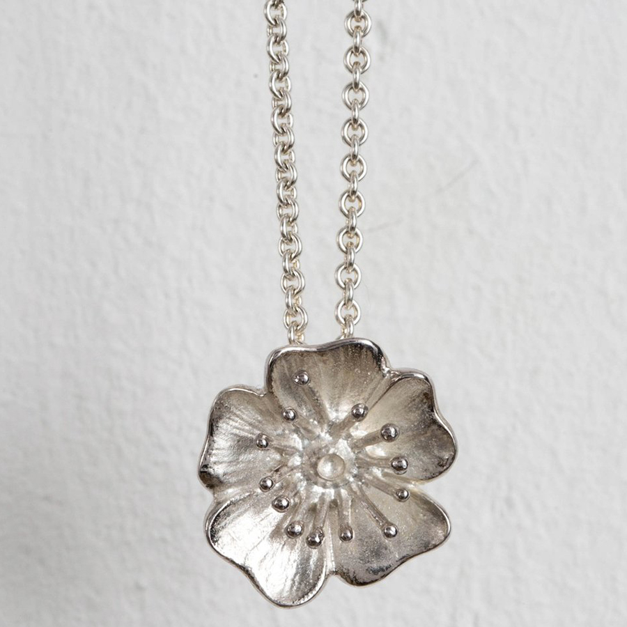 Mosami Wild Rose 'Love' Pendant Necklace