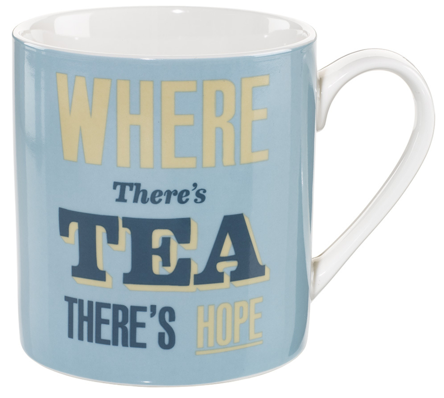 Image of Home Front Ceramic Mug - Where There's Tea There's Hope - 400ml